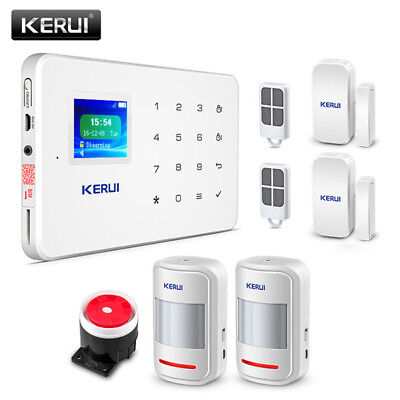 Kit antifurto casa allarme touch screen wireless senza fili gsm remote app ebay - Allarme per casa senza fili ...