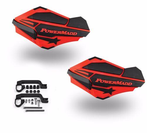 PowerMadd Sentinel Handguard Guards Kit Red Black Universal ATV 34402