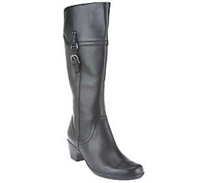 Clarks Bendables Ingalls Vicky Leather Medium Width Shaft Boots PICK SIZE NEW