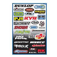 Fx Sponsor A Graphics Sticker Kit For Kawasaki Dirt Bikes