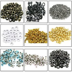 12mm 100pcs Eyelets Grommets Brass DIY Leathercrafts Clothing Shoes Bags 2mm