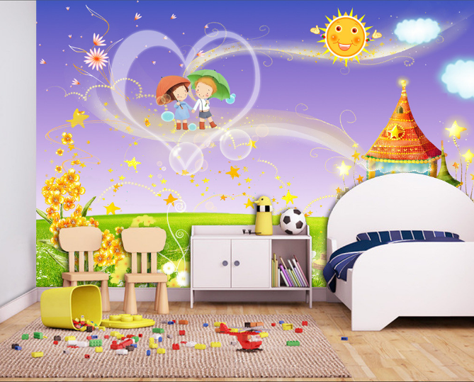 3D Castle Sun 525 Wallpaper Murals Wall Print Wallpaper Mural AJ WALL AU Kyra