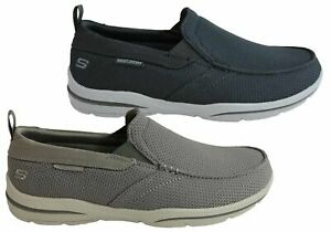 Mens Skechers Harper Walton Relaxed Fit Memory Foam Wide Fit Shoes