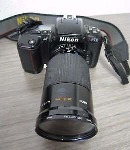 Nikon N6006 AF SLR Camera 35mm Vintage Kiron 28-210 mm f/4-5.6 Lens Zoom, Japan