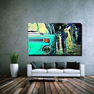 leinwand bild bilder xxl pop art vw bully volkswagen bulli. Black Bedroom Furniture Sets. Home Design Ideas