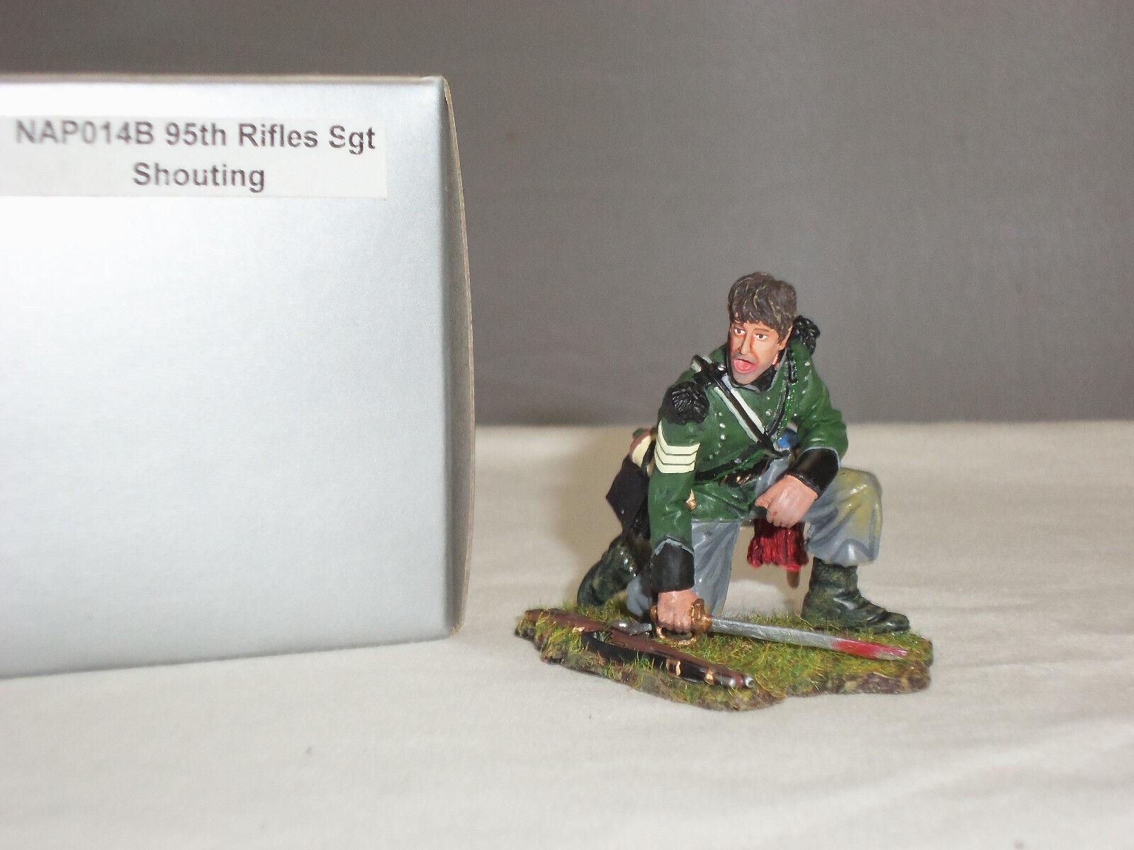 THOMAS GUNN NAP014B BRITISH 95TH RIFLES SERGEANT SHOUTING METAL TOY SOLDIER