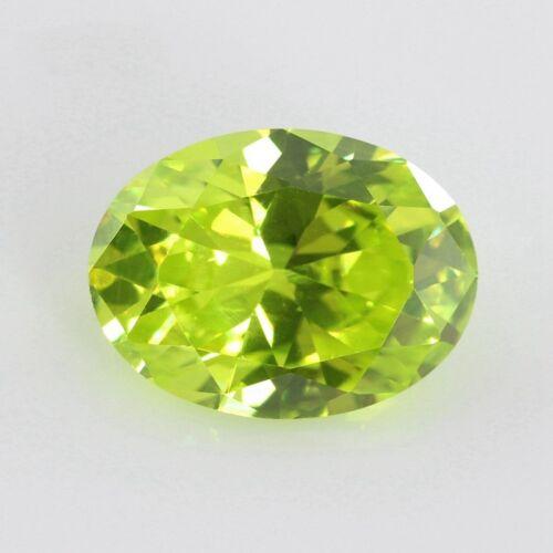 8x10mm 4.35ct Zafiro Verde Manzana Oval corte Vvs AAAAA Piedra Suelta