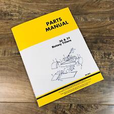 Parts Manual For John Deere 30 31 Tiller Catalog Book Assembly Integral Pc953