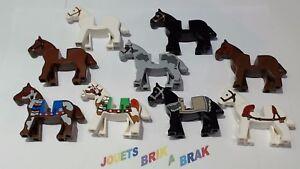 Lot-lego-de-1-cheval-horse-marron-noir-blanc-indien-choose-color-ref-4493