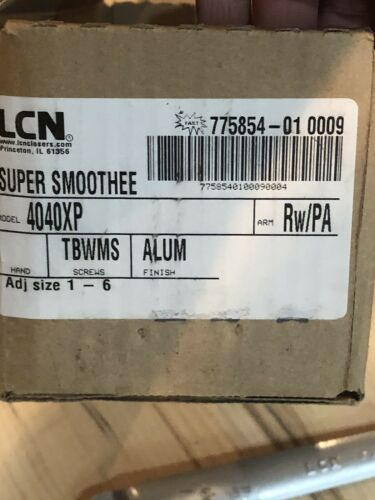 LCN Super Smoothee 4040XP ALUM RW//PA TBWMS Door Arm with screws+Hardware