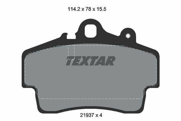 4 textar plaquettes de freins en qualité d/'origine devant