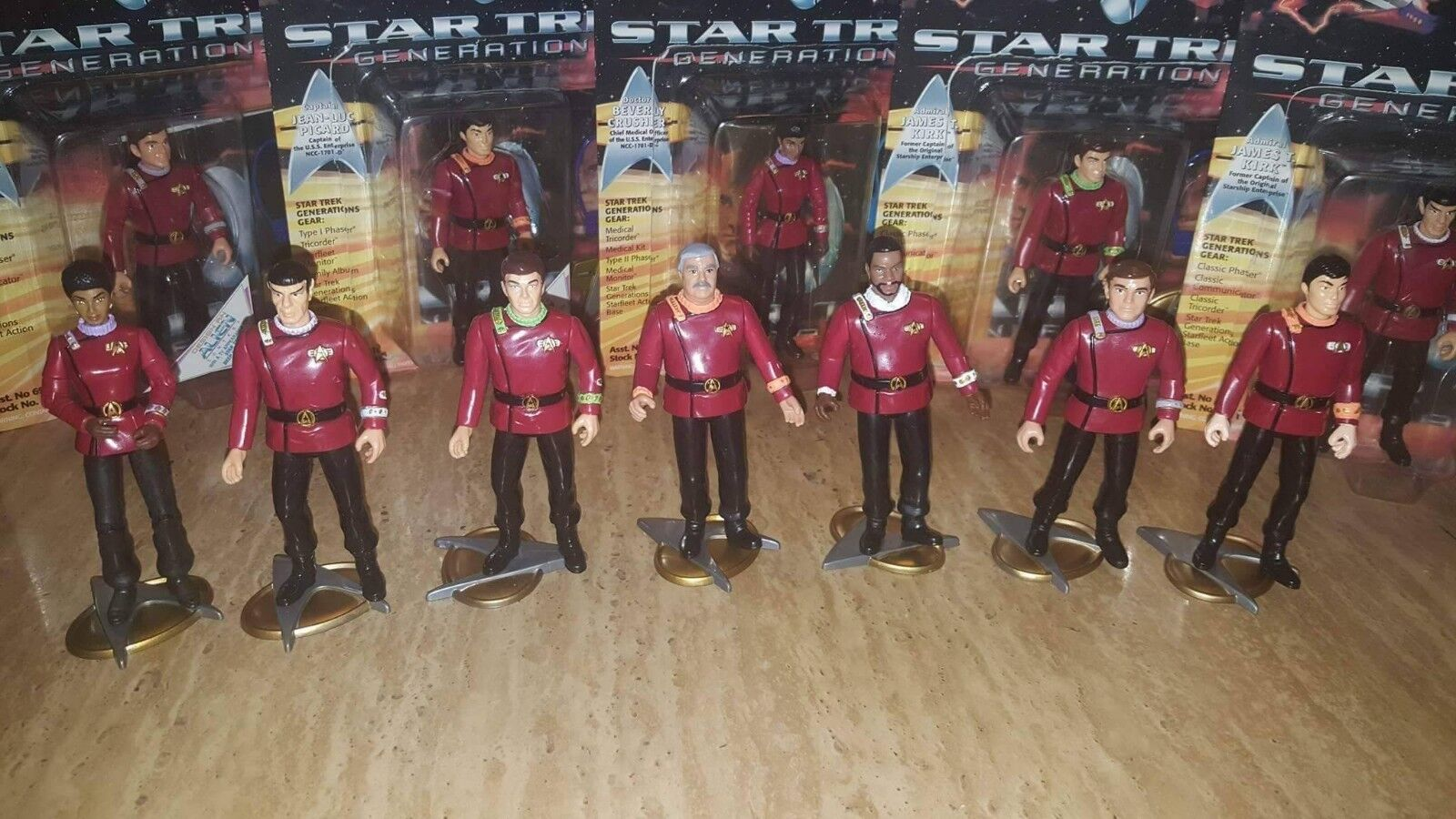 STAR TREK CUSTOM ACTION FIGURES TOS TNG VOYAGER DS9 STD Made to order lot of 7
