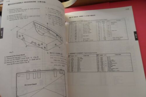 Original Yamaha R100 Reverb Processor SERVICE Manual
