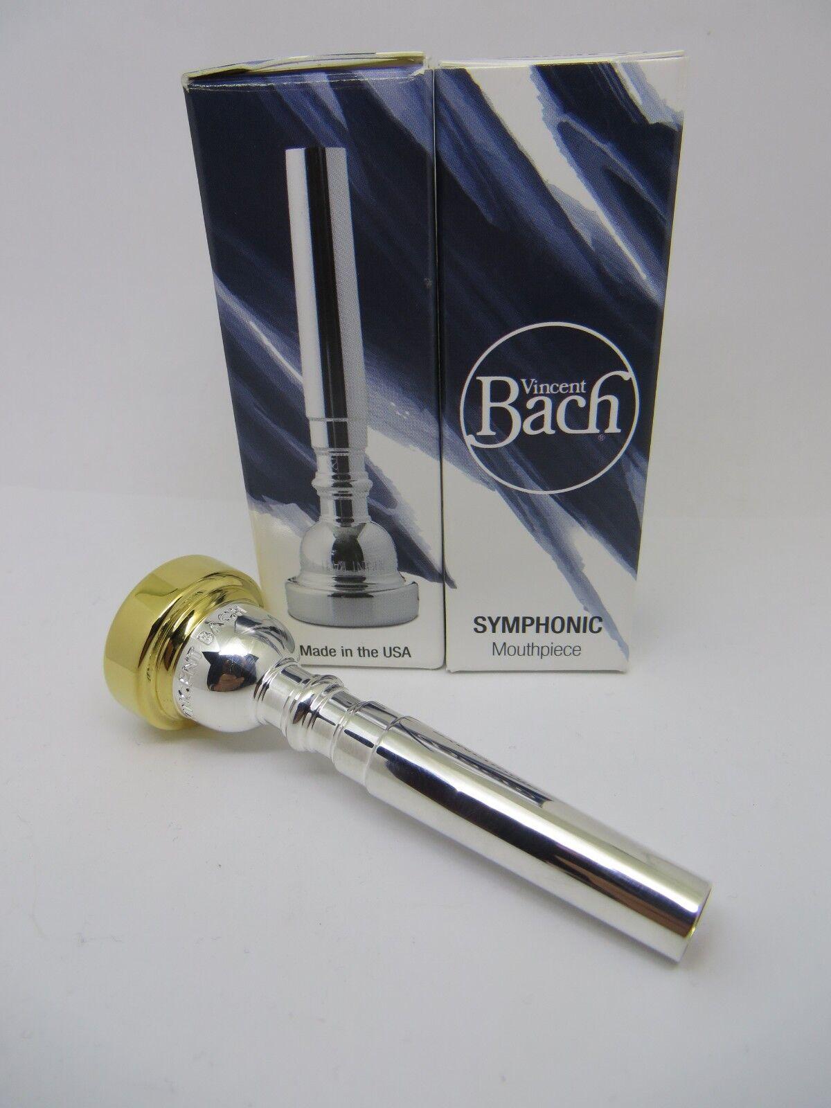 Bach 24K Borde De De De oro & Taza Sinfónica Trompeta Boquilla Garganta, 1C, 24, 24 backbore 92508e