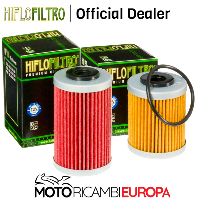 COPPIA FILTRI OLIO HIFLO KTM SX 400/450/520/525/KTM XC-W 400/450/KTM SMR 450/525