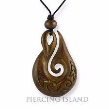 Maori Heimatau Amulett Anhänger Bone Knochen Handarbeit Design PB367