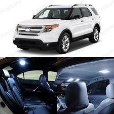 8 x Xenon White LED Interior Light Package For 2011 - 2014 Ford Explorer
