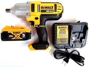 New-Dewalt-DCF889-20V-1-2-034-Cordless-Impact-Wrench-1-DCB205-Battery-Charger