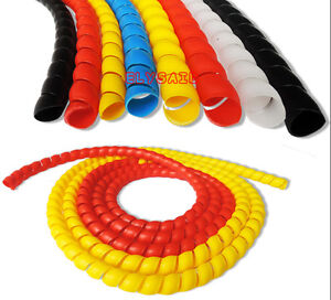 18mm 4m Outside Spiral Wire Wrap Features Flexible Spiral Design Plastic Tube
