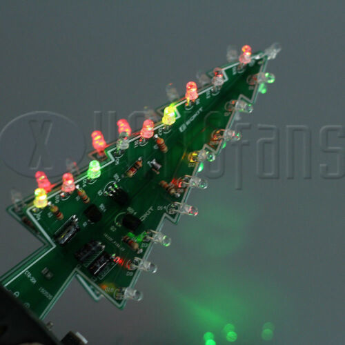 Christmas tree Colorful LED Marquee flashing light DIY Kit Circuit ATF