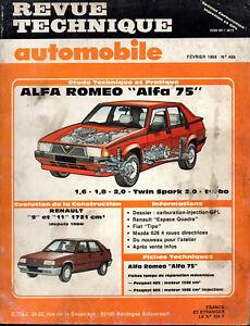 Rta Revue Technique Automobile N° 488 Alfa Romeo 75 1.6 1.8 2.0 Twin Spark Turbo