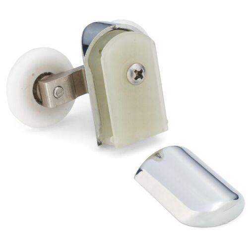 2 x Chromeplate Double Shower door Rollers//Wheels 23mm dia Top or Bottom L061