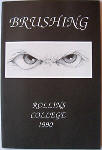 Brushing-Rollins-College-1990-Winter-Park-Florida-Softcover-Book-Art-Poetry