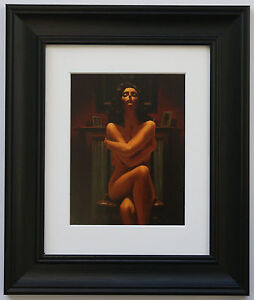 Just-The-Way-It-Is-by-Jack-Vettriano-Framed-amp-Mounted-Art-Print-Black-Frame