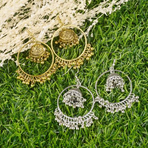 Vintage Bohemian Tassel Beads Drop Dangle Wedding Earrings Indian Jewellery