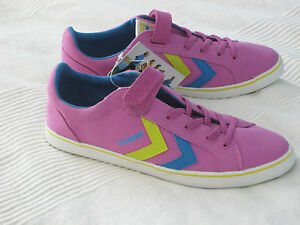 the latest 79a0a fbeba Details zu Hummel DEUCE COURT JR Mädchen Sneakers SCHUHE lila pink Gr. 38  NEU Sneaker
