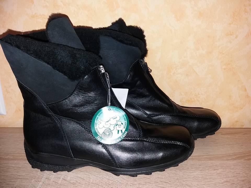 RODA Stiefel - ette NEU Gr. 42 43 G weiß, schwarz, braun & Leder mit Lammfell