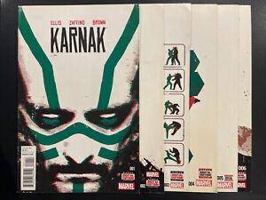 Karnak 1-6 Complete Comic Lot Run Set Marvel Collection Inhumans Warren Ellis