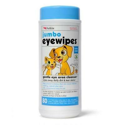 Wipes Eye pkt 80 (Petkin) ear care for dogs