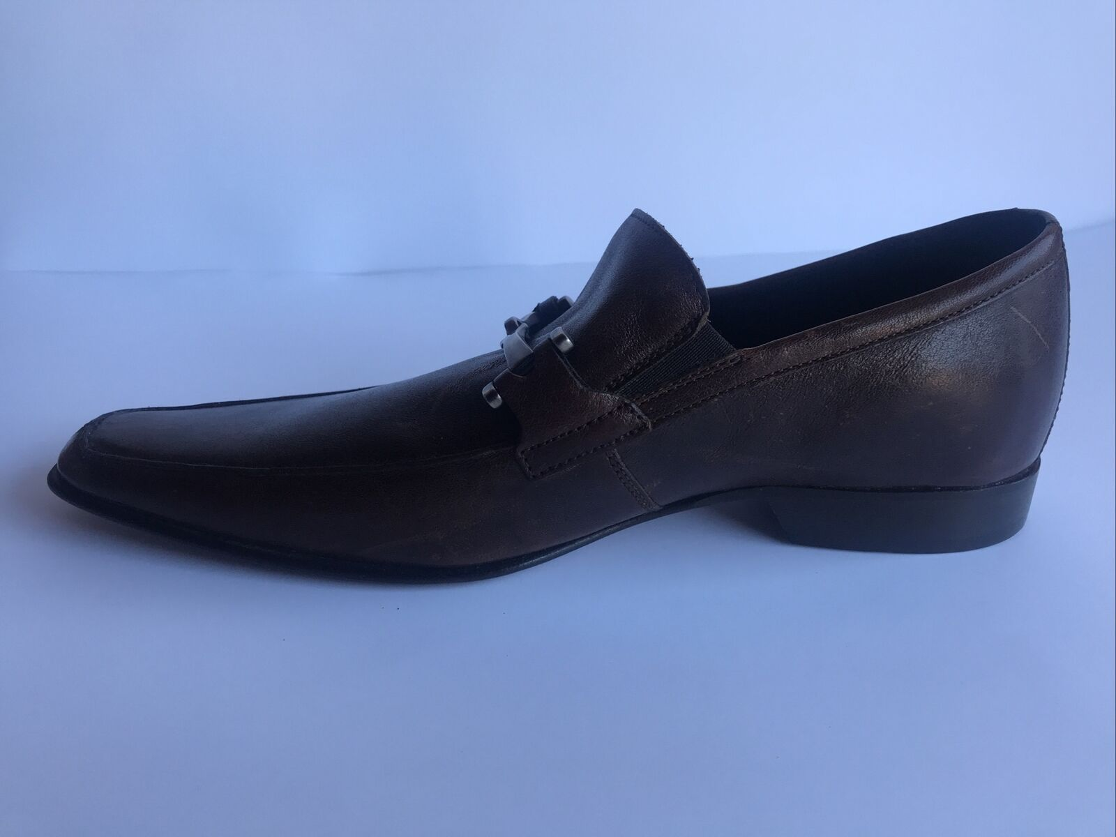 Kenneth Cole New York Mens Washed brown loafers Dress Shoes Size US 7