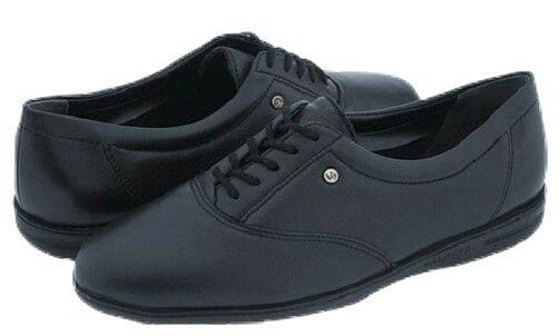 Easy Spirit Motion navy Blau Leder oxfords flats walking schuhe sz 9 NARROW NEU