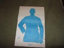 "50 Shooting Targets Law Enforcement Police Silhouette 23/""x35/"" 25 yard B-21-E-BU"