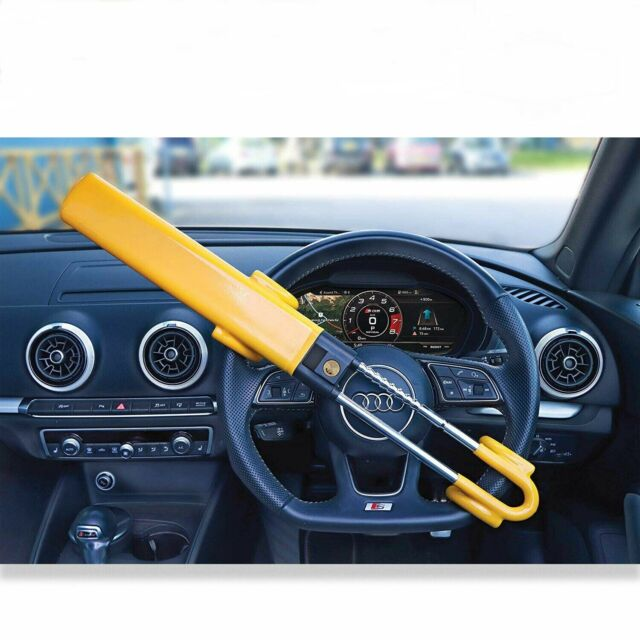 Heavy Duty Steering Wheel Lock For Car Van High Security Anti Theft Clamp Locks