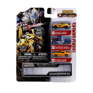 Jada-Toys-Nano-Hollywood-Rides-Series-1-Transformers-3-Pack-Set-NEW