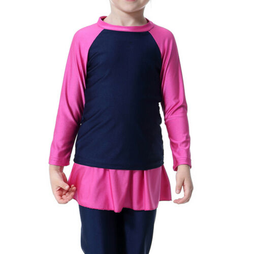 Muslim Girls Kids Modest Swimwear Swimsuit Islamic Burkini Arab Swimming Costume
