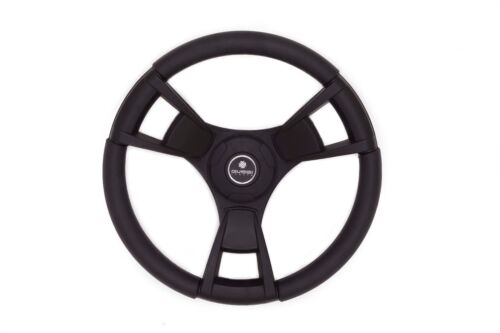 New OEM Gussi Boat Steering Wheel Black Plastic Model 13