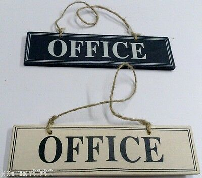 GISELA GRAHAM WOODEN HANGING OFFICE SIGN PLAQUE CREAM OR BLACK HOME NEW JOB GIFT