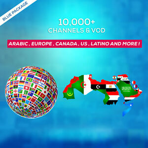 6 Months IPTV SUBSCRIPTION +10000 Ch&VOD ARABIC, EUROPE, LATINO, UK, US, AFRICA