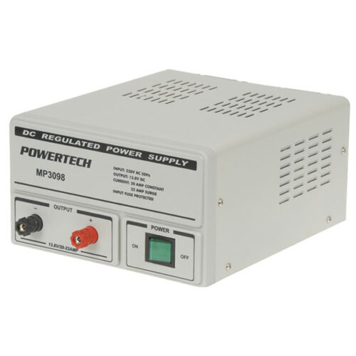 Powertech 13.8 Volt 20 Amp DC Linear Laboratory Power Supply