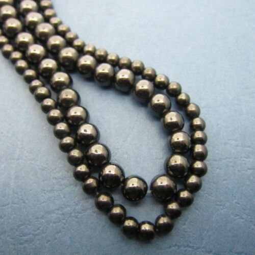 Great Beads 4mm /& 6mm Round Black Strong Magnetic Hematite Loose Beads