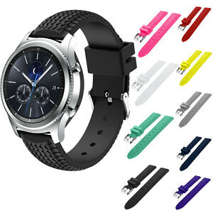 silicone band bracelet replacement strap for samsung gear s3 classic frontier ebay. Black Bedroom Furniture Sets. Home Design Ideas