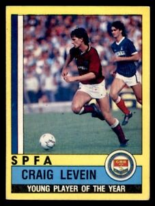 PANINI FOOTBALL 87-#005-HEARTS-CRAIG LEVEIN-SPFA YOUNG PLAYER OF THE YEAR 1985-6