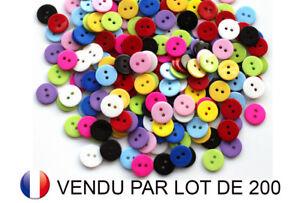Couture Scrapbooking Lot de 50 Boutons 11mm Multicouleur avec 2 trous Mixte