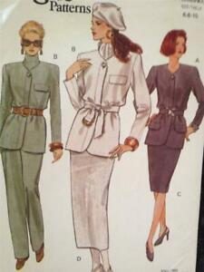 Vogue-Sewing-Pattern-8764-Ladies-Misses-Jacket-Skirt-Pants-Size-6-10-UC