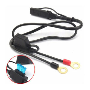 1-New-Motorcycle-Battery-Terminal-Ring-Connector-Harness-Charger-Adapter-Cable