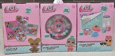 LOL Surprise Dolls Beauty Gift Set Bundle Fierce Lip Gloss Nail Polish NEW